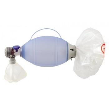Resuscytator Silikonowy Ambu Oval dla dorosłych z maską silikonową rozmiar 5 z otwartym mankietem